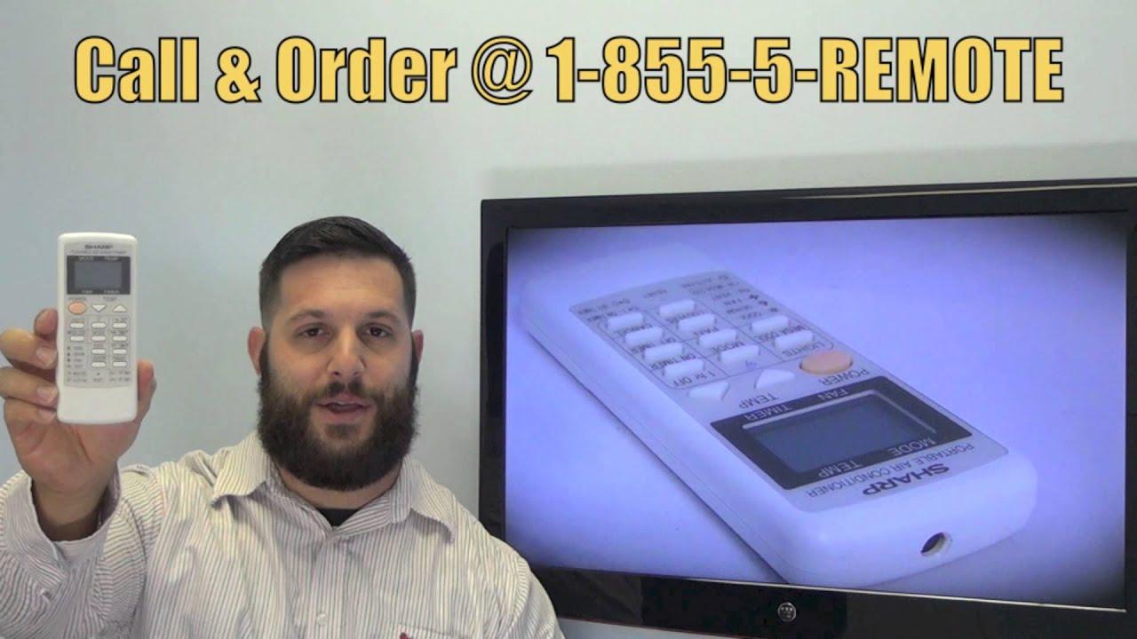 SHARP CRMCA663JBEZ Air Conditioner Remote