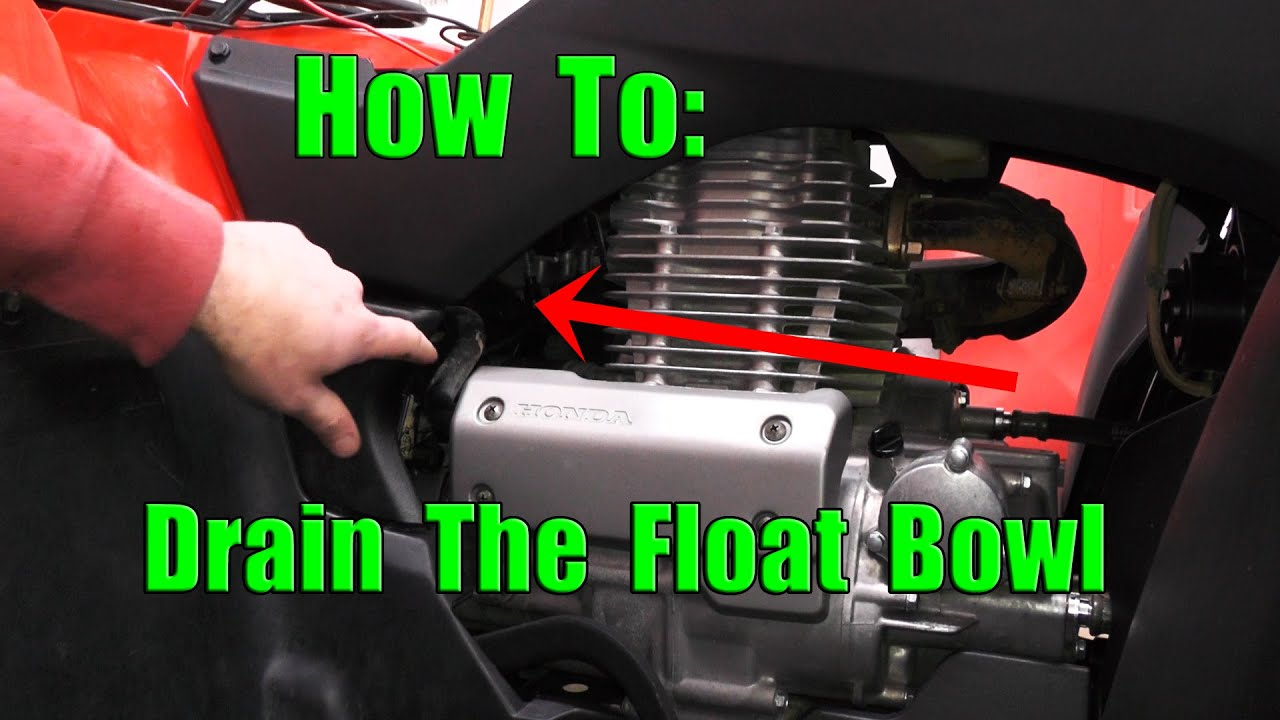 Honda Rancher 350 How To Drain Float Bowl Water In