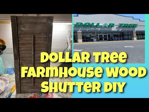 DOLLAR TREE FARMHOUSE DECOR | FARMHOUSE SHUTTER DIY | Easy, cheap, farmhouse decor