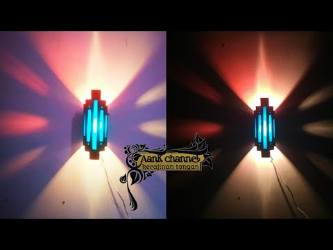 kerajinan tangan dari paralon bekas jadi lampu hias dinding | ide kreatif