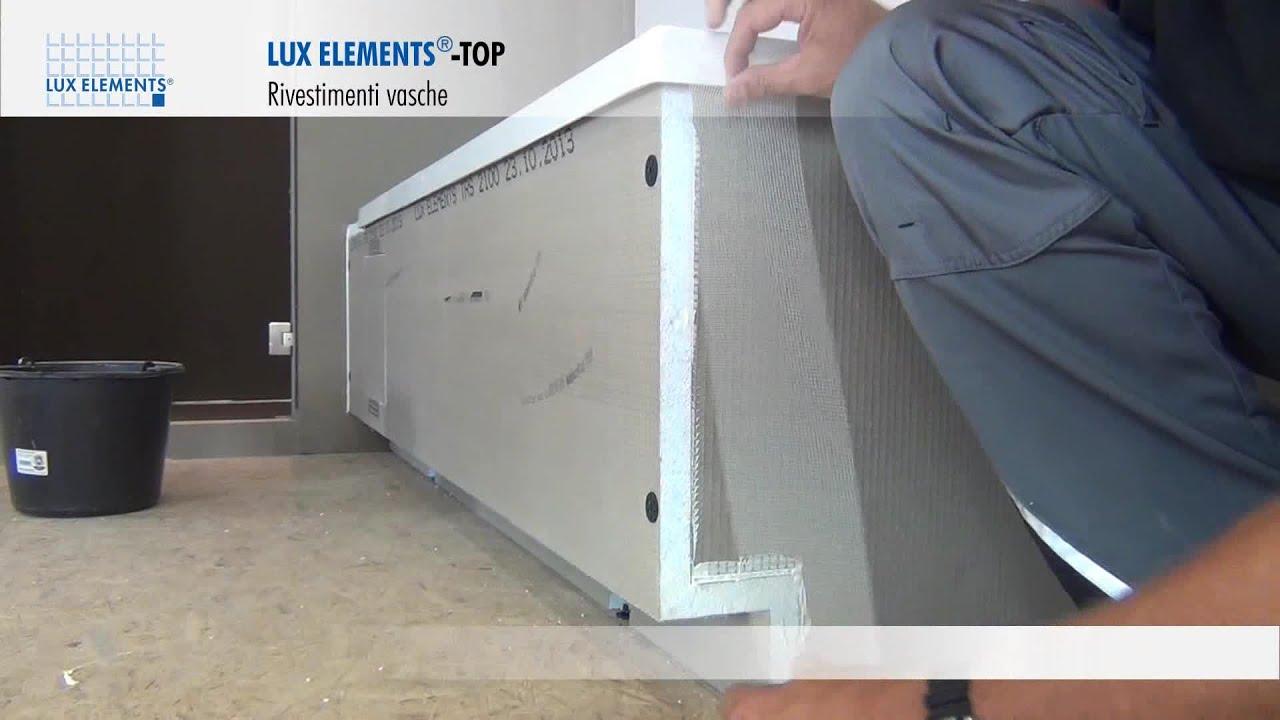 Vasca Da Bagno Montaggio : Montaggio lux elements: rivestimento top tr per vasche rettangolari