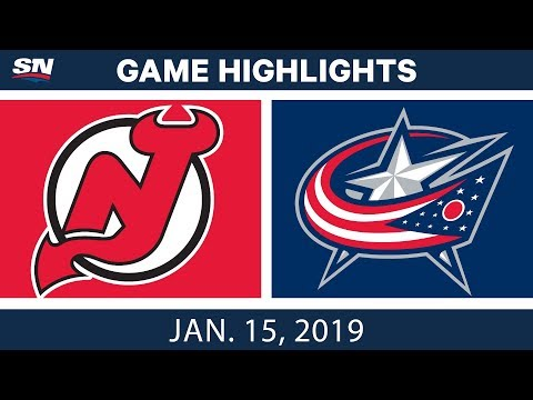 NHL Highlights | Devils vs. Blue Jackets - Jan. 15, 2019