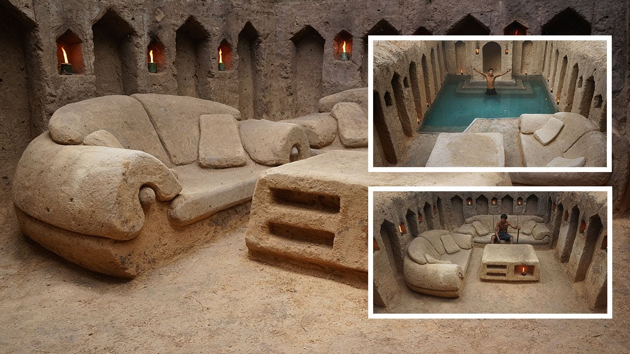Secret Hidden Underground House