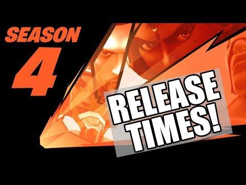 When Does SEASON 4 START!? Fortnite Battle Royale NEW SEASON 4 BATTLE PASS START TIMES REVEALED!