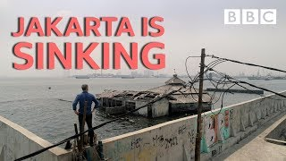 Jakarta is sinking Equator from the Air BBC