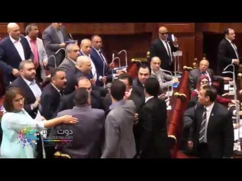 دوت مصر| تعدى النائب أحمد طنطاوى على رئيس الجمعية الجغرافية ويكسر المايك