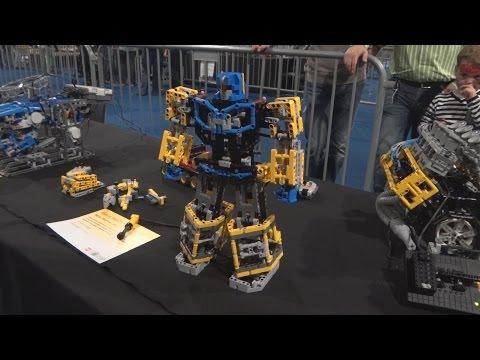 lego technic Transformer, Mindstorms Robot Hand, V8 Engine, Unimog, Barman on legoworld 2013