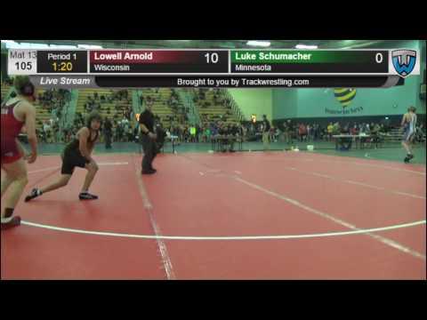 3114 Schoolboy 105 Lowell Arnold Wisconsin vs Luke Schumacher Minnesota 7864226104