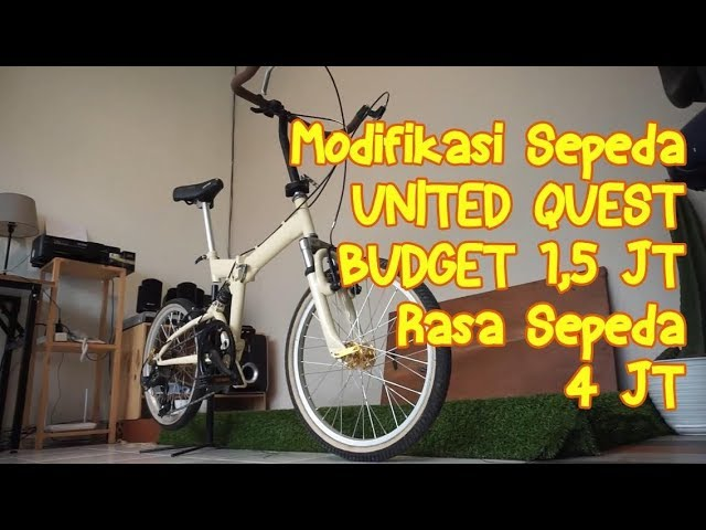 Modifikasi Sepeda United Quest Cuma 1 5jt Rasa Sepeda 4jt Youtube