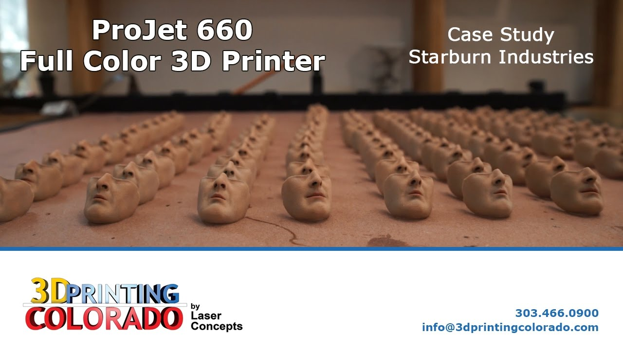 Starburn Industries - ProJet 660 - Full Color 3D Printer - Case Study