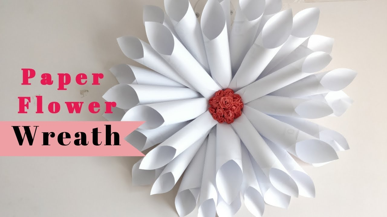 Diy Wall Decor Ideas With Paper Big Paper Flowers Diy Youtube