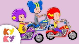 МОТОЦИКЛ - Кукутики - Песня мультик для детей про гонки для мальчиков