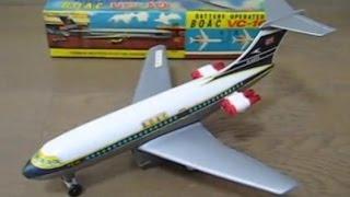 香港製プラ玩具、電動走行 英国海外航空 ビッカースVC-10  BOAC VC-10 toy