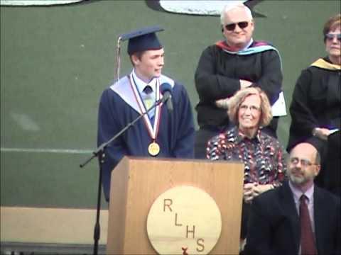 Valedictorian Logan Hodges Graduation Speech Red Land Senior High School 2012