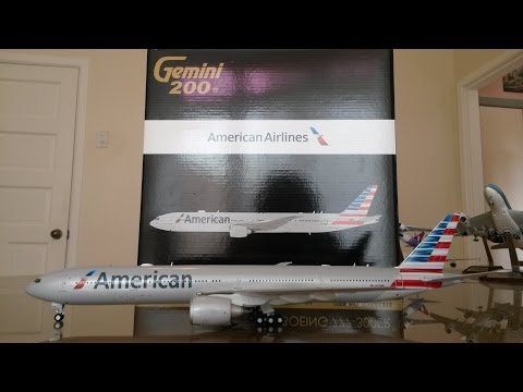 Gemini Jets 1:200 American Airlines 777-300ER Unboxing And Review