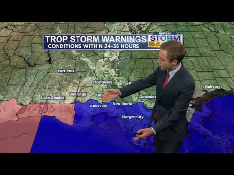 Tropical Storm Cindy developing in the Gulf of Mexico