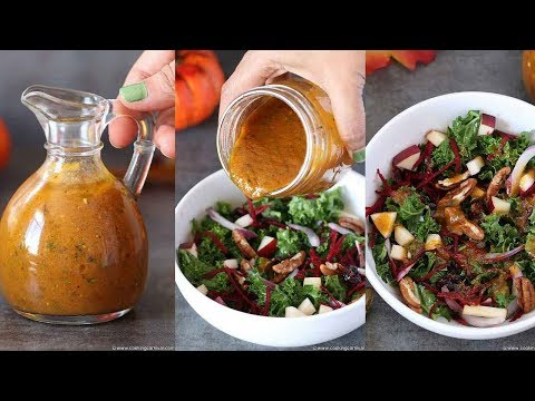 Pumpkin Vinaigrette | Autumn salad dressing recipe