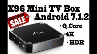 X96 mini 4k Tv Box Android 7.1.2 Quad Core S905W with HDR, 4K, H265, 2GB Ram, 16gb storage