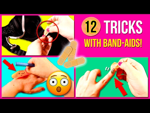 TOP 12 BAND-AIDS Life Hacks 👌🏼 Amazing TRICKS with BAND-AIDS * EASY tricks with BAND AIDS