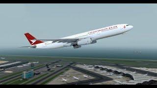 P3D V4.5 Flight - Cathay Dragon A333   Hong Kong to CHENGDU SHUANGLIU (VHHH ZUUU)