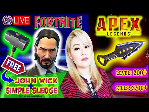 🔴 [LIVE] GIFTING FREE JOHN WICK SKIN & SIMPLE SLEDGE TO SUBSCRIBERS EVERY 50 LIKES!