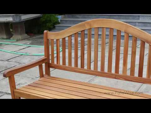 Patio Wise Classic Wooden Folding Bench (PWFN-030) - YouTube