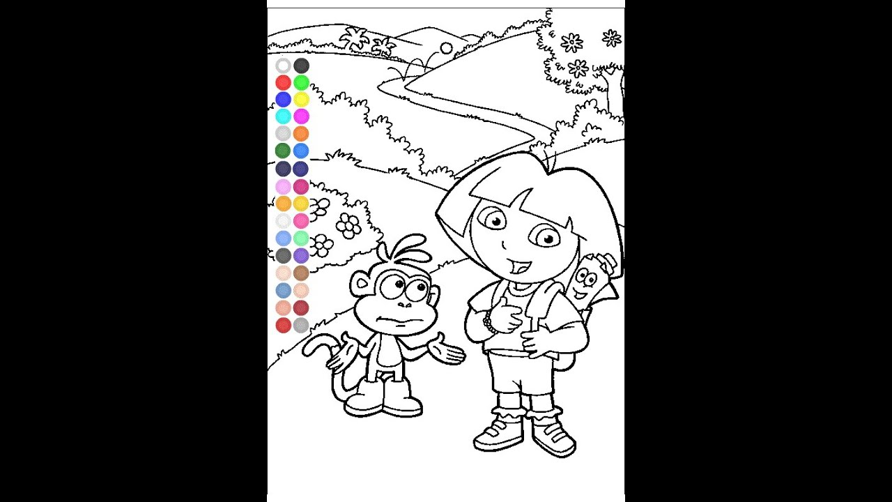 Dora Coloring Book Games