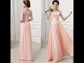 Beautiful Long Gown dress designs for girls , New