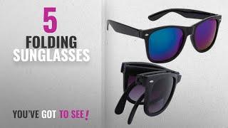 Top 10 Folding Sunglasses [2018]: Elligator Unisex Folding Sunglass Combo