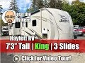 2019 Eagle 330RSTS King Bed 7'3 Tall 3 Slide Flat Deck Fifth Wheel Style Travel Trailer