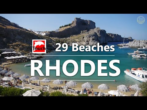 29 Best Beaches of RHODES, Greece ► 13 minutes HD