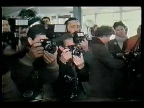 Hergé Reunites with Chang at the Brussels Airport in March of 1981