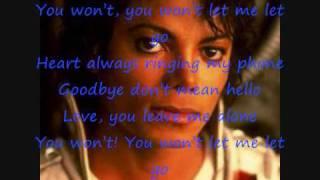 Michael Jackson - let me go+ lyrics