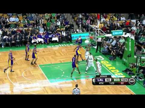 Fab Melo scores his first points in NBA vs Los Angeles Lakers 2/7/2013