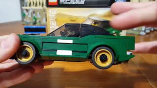 Lego Speed Champions 1968 Ford Mustang Fastback 75884 Review - Homage to Bullitt