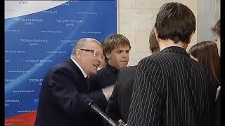 Снова перл, Жириновский накричал на беременную журналистку в прямом эфире