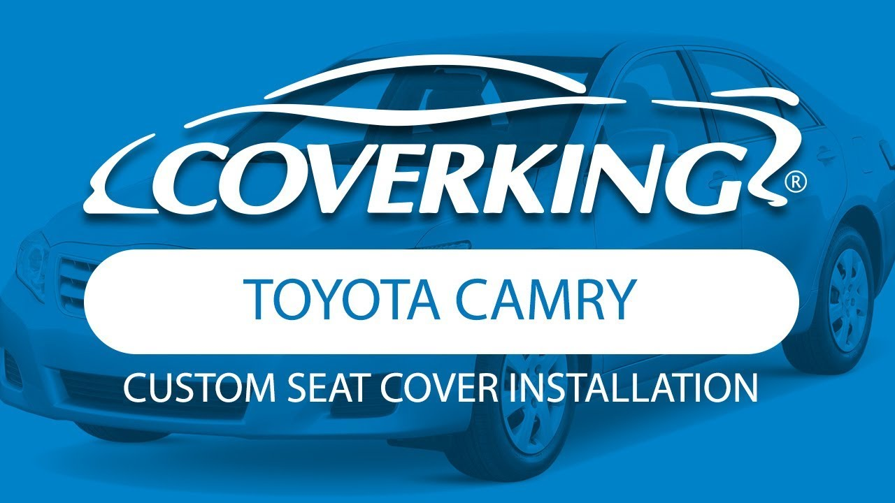 Coverking 2015 2017 toyota camry custom seat cover installation
