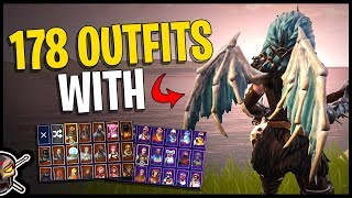 Valkyrie Wings Back Bling on 178 Outfits | Valkyrie - Fortnite Cosmetics