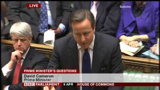 PMQs: Ed Miliband vs David Cameron (9 April 2014)