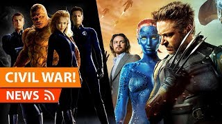 X-Men vs Fantastic Four CIVIL WAR Film Details Revealed