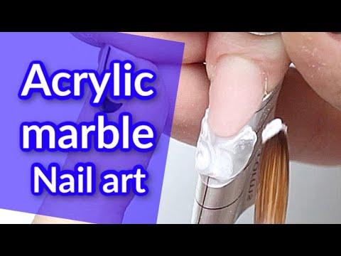 Snow Storm ❄️Acrylic Nail Art Tutorial thumbnail
