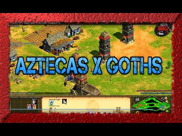 Age of Empires 2 HD 1x1 Arabia Aztecas x Goths AoE2HD Gameplay PT BR