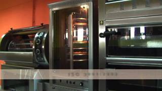 gas heated pizza oven with rotating deck el