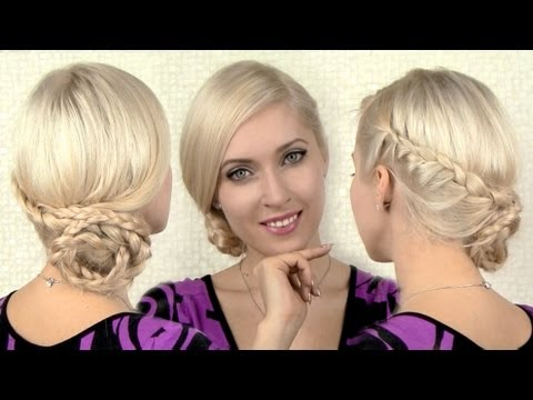 charlize-theron-inspired-braided-updo-for-christmas,-new-year's-eve-hairstyle.-long-hair-tutorial