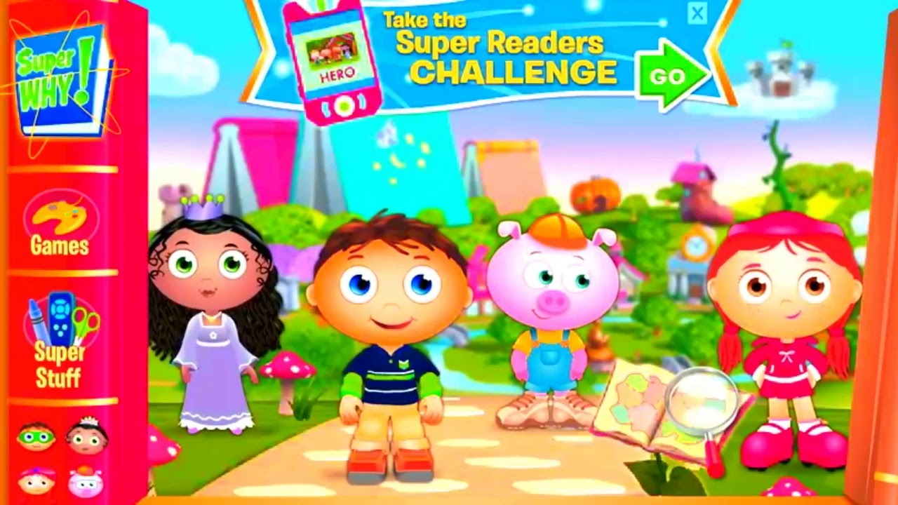 Super why characters PBS Kids Super Readers List - YouTube