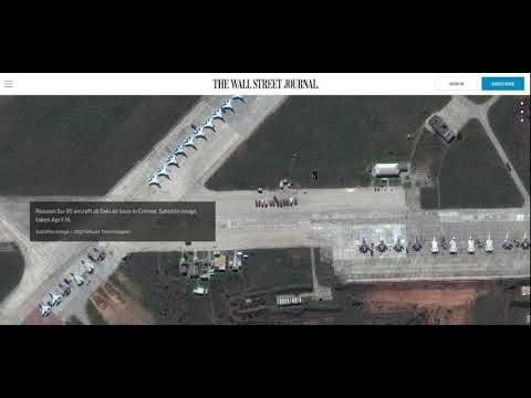 BREAKING NEWS!! NEW SATELLITE PHOTOS SHOW DOZENS OF RUSSIAN FIGHTER JETS IN CRIMEA!!