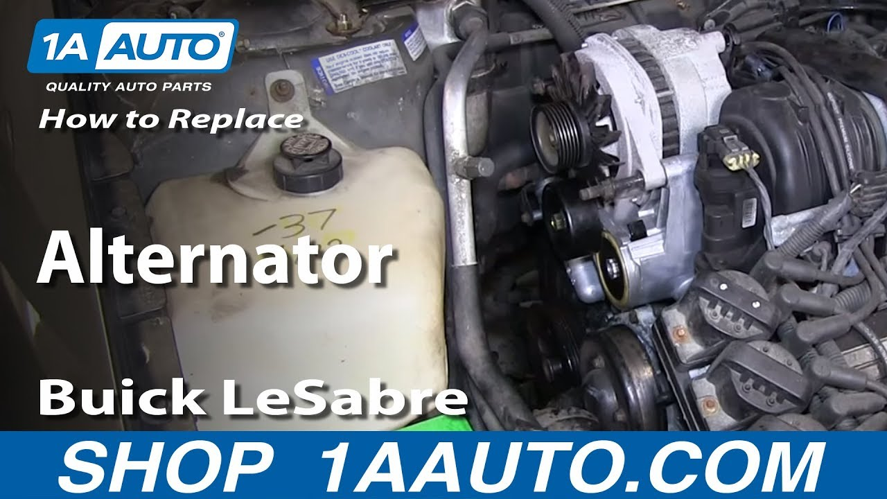 hight resolution of how to replace install worn out alternator 1996 99 buick lesabre and park avenue youtube