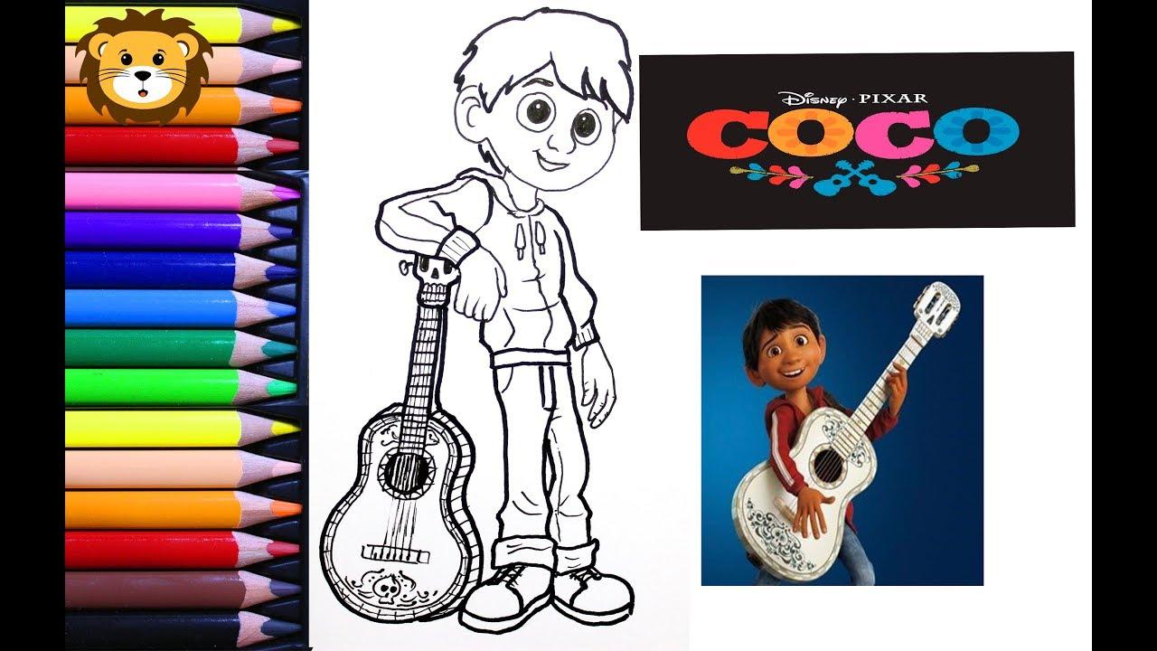 Miguel Coco Para Colorear: Dibujos Para Niños