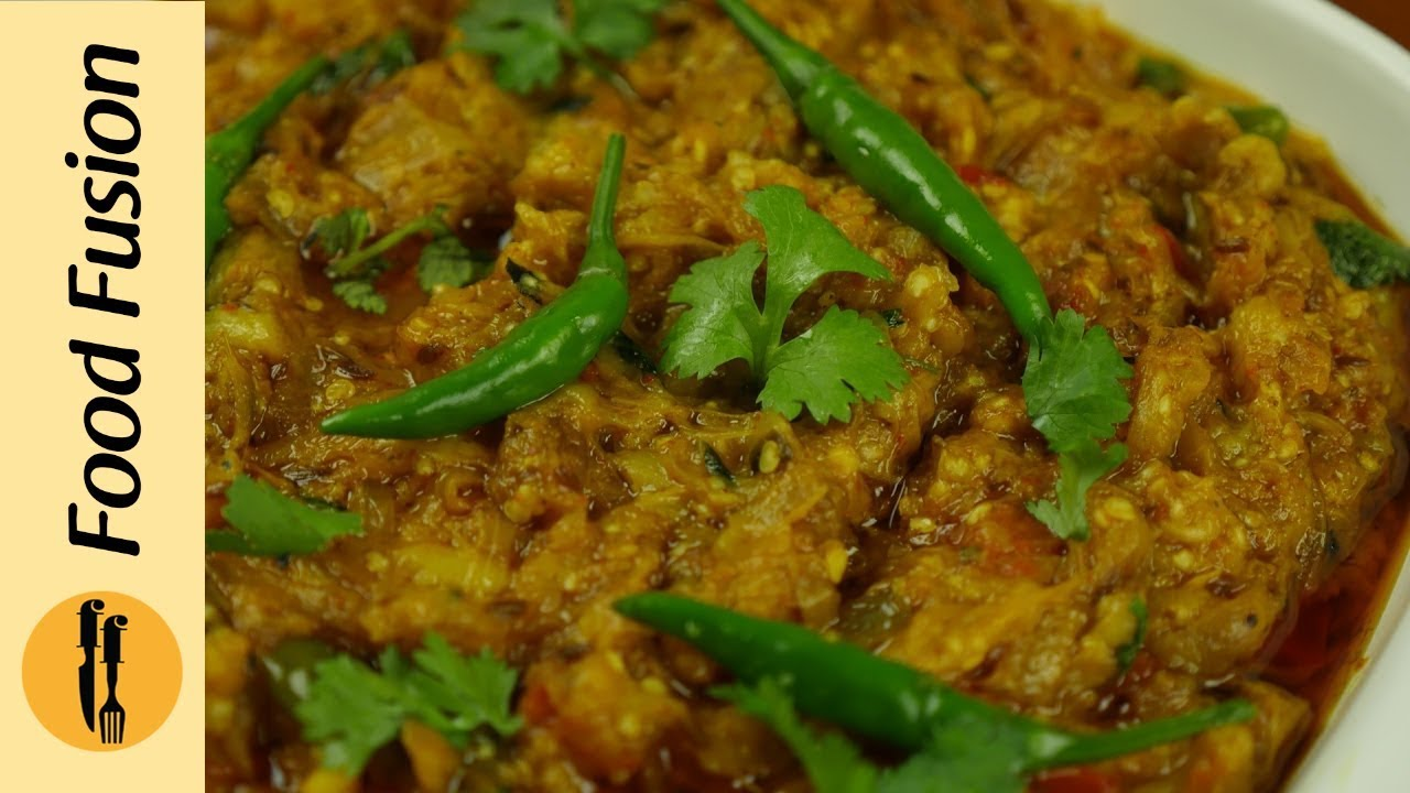 Bbq Baingan Brinjal Ka Bharta Recipe By Food Fuision Youtube