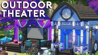 The Sims 4 Speed Build  - Outdoor Theater